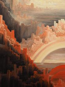 Hinterm Horizont gehts weiter ....Ölbild - Ausschnitt 2 von Edeltraut K.  Schlichting