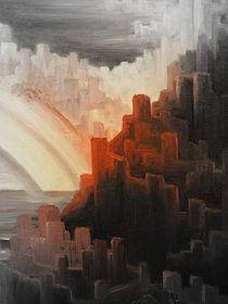 Hinterm Horizont gehts weiter ....Ölbild - Ausschnitt 3 von Edeltraut K.  Schlichting