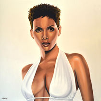 Halle Berry Painting by Paul Meijering