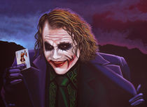 Heath Ledger as the Joker Painting by Paul Meijering