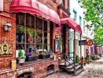 Alexandria VA - Red Awnings on King Street by Susan Savad