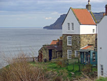 Robin Hood's Bay, Cottages by Rod Johnson