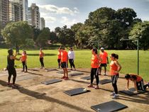 Functional training in park by FREE TRAINING