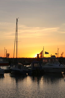 Hafenromantik ..... Ostsee, Hafen, Abendstimmung von Edeltraut K.  Schlichting