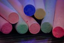 Farbige Kreide auf Tafel von Gisela Peter