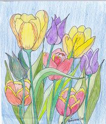 Gemalte-tulpen