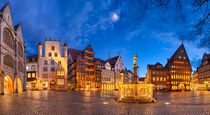 Market square of Hildesheim, Germany by Michael Abid