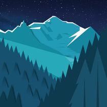 Night Mountains No. 27 von Henrik Bakmann