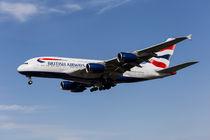 British Airways Airbus A380 by David Pyatt
