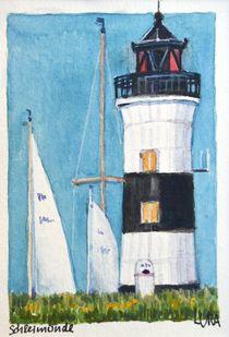 Ostsee Leuchtturm Schleimünde von lura-art