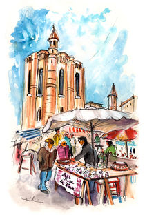 Saturday Market In Albi 01 von Miki de Goodaboom