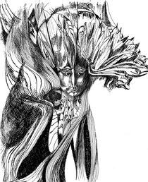 Kopf mit Blattschmuck II von Eberhard Schmidt-Dranske
