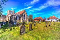 Colour image of the medieval  St Peter and St Paul Church Headcorn Kent von David Pyatt