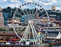 Seattle Port Ferris Wheel by Gena Weiser