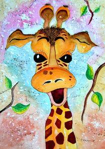 Giraffe Gisela Kinderzimmerbild Malerei by siegfried2838