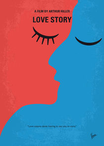 No600 My Love Story minimal movie poster von chungkong