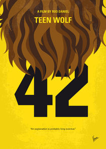 No607 My Teen Wolf minimal movie poster von chungkong