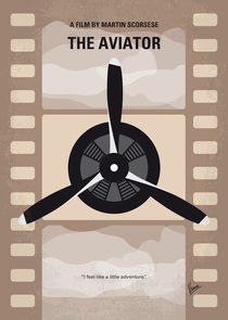No618 My The Aviator minimal movie poster von chungkong