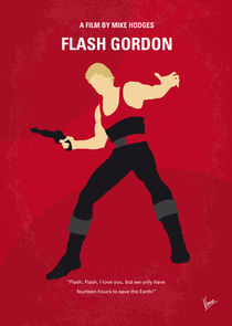 No632 My Flash Gordon minimal movie poster by chungkong