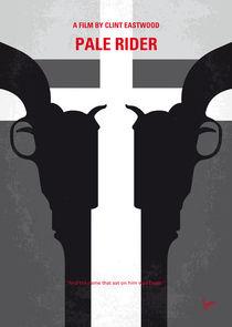 No640 My Pale Rider minimal movie poster von chungkong