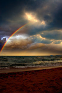 Rainbow over the sea by Yuri Hope