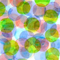 Green Red Blue Circles by Heidi  Capitaine