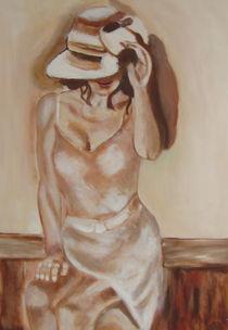 Frau mit Hut  von rita-markgraefe