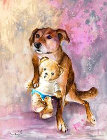 Teddy Bear Caramel And Dog Douchka by Miki de Goodaboom