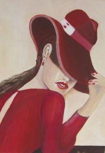 Frau mit rotem Hut  by rita-markgraefe
