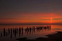 Sonnenuntergan im Wattenmeer von hpengler