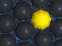 Yellow umbrella by Alexey Romanenko