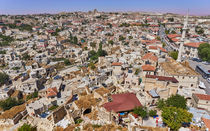 Aerial view over old turkish town by cfederle