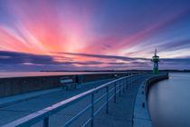 Farbenspiel bei Sonnenaufgang in Travemünde von Moritz Wicklein