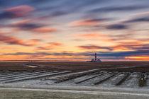 Sonnenuntergang am Leuchtturm Westerheversand von Moritz Wicklein