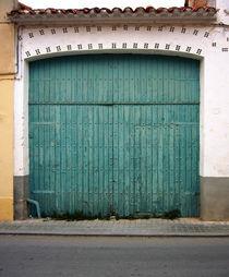Wooden-green-gate