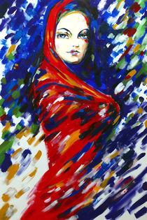 Frau in Rot (serie aus Frauen in Rot) von oesensart