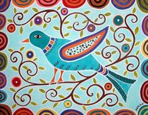 Folk Bird by Minocom Art Gallery