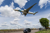 EgyptAir boeing 777 Landing at Heathrow by David Pyatt