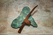 Copper Nugget and Rock Hammer von Fredrick Denner