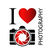I love photography- with camera and red heart by Shawlin Mohd