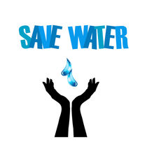 Save water- hands saving water  von Shawlin Mohd