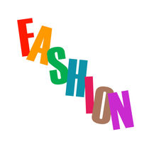 Word fashion in colorful letters  von Shawlin Mohd
