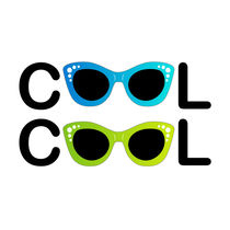 Text cool with vintage glasses as letter O von Shawlin Mohd