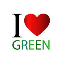 I love green with red heart  von Shawlin Mohd