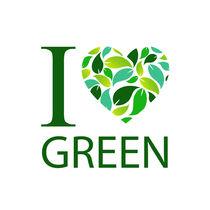 I love green with green leaf heart  von Shawlin Mohd