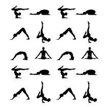 Yoga poses silhouette  by Shawlin Mohd