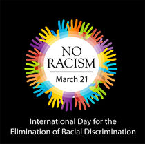 No racism graphic with colorful hands  by Shawlin Mohd