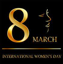 Womens day graphic in gold  von Shawlin Mohd