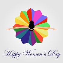 Womens day card with a dancing woman  by Shawlin Mohd