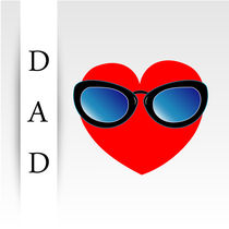 Fathers day with red heart wearing goggles  by Shawlin Mohd